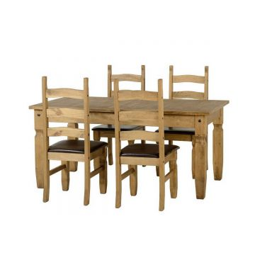 Corona Extendable Dining Table with 4 Chairs