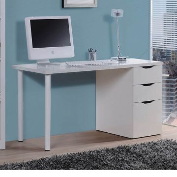 Blanco 3 Drawer Desk