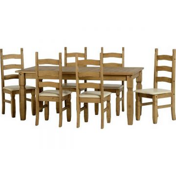 Corona 6ft Dining Table with 6 Chairs