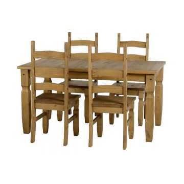 Corona 5ft Dining Table with 4 Chairs