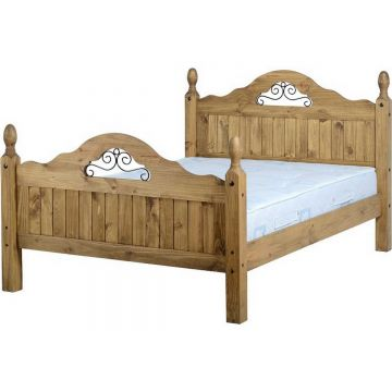 Corona Scroll Bed High Foot End