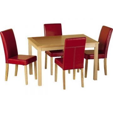 Oakmere Dining Table with 4 Chairs