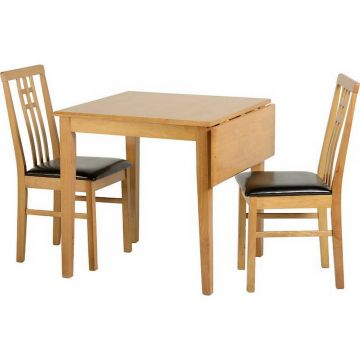 Vienna Drop Leaf Dining Table with 2 Chairs