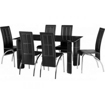 Bradford Dining Table with 6 Chairs