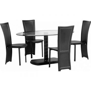 Cameo Oval Dining Table with 4 Chairs