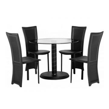 Cameo Round Dining Table with 6 Chairs