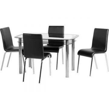 Harlequin Dining Table with 4 Chairs