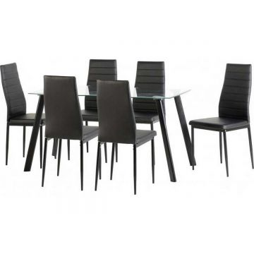 "Abbey 55"" Dining Table with 6 Chairs"