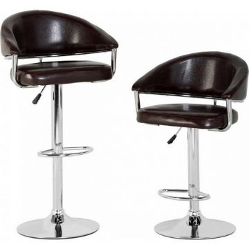 Brooklyn Gas Lift Swivel Bar Stool (Pair)