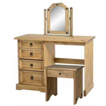Corona Dressing Table Set with Mirror