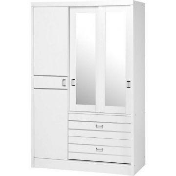 Jordan 3 Door 2 Drawer Sliding Mirror Wardrobe
