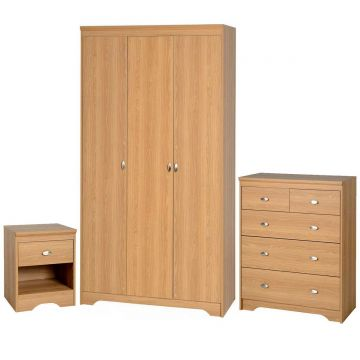 Regent 3 Door Wardrobe and 3 Plus 2 Drawer Chest Bedroom Set