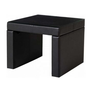Luxor Glass Top Bedside / Lamp Table
