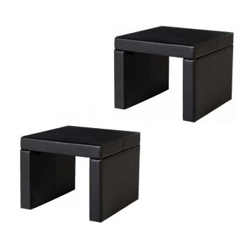 Luxor Glass Top Bedside / Lamp Table (Set of 2)