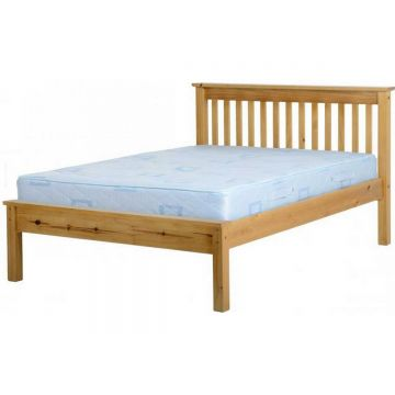 Monaco Low Foot End Bed - Antique Pine