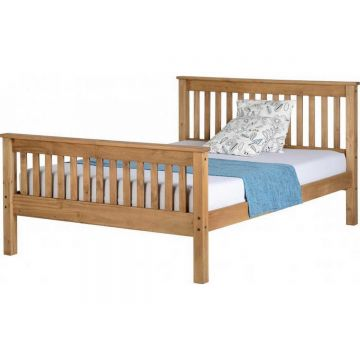 Monaco High Foot End Bed - Antique Pine