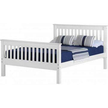Monaco High Foot End Bed - White