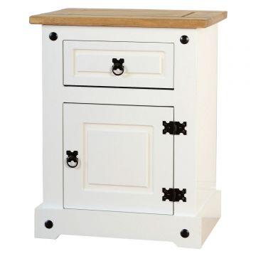 Corona 1 Drawer 1 Door Bedside Cabinet