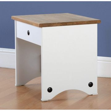 Corona Dressing Table Stool in White