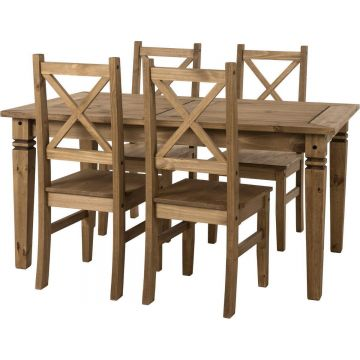 Salvador Dining Set with 4 Chairs