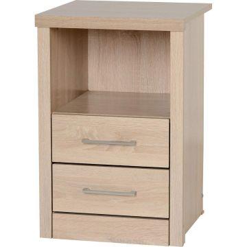 Lisbon 2 Drawer 1 Shelf Bedside Cabinet
