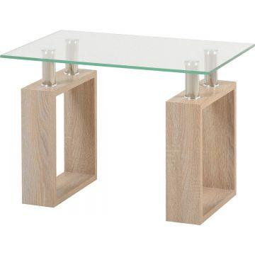 Milan Glass Top Lamp Table