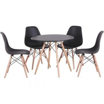 Tegan Dining Set with 4 Chairs
