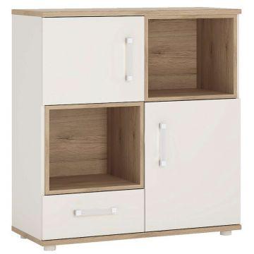 4KIDS 2 Door 1 Drawer Cupboard With 2 Open Shelves
