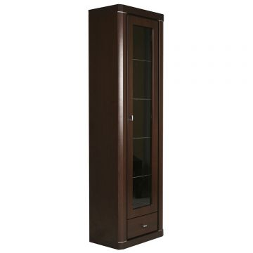 Camden Tall 1 Door 1 Drawer 59CM Glazed Cabinet