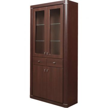 Camden Tall 4 Door 2 Drawer Glazed Cabinet