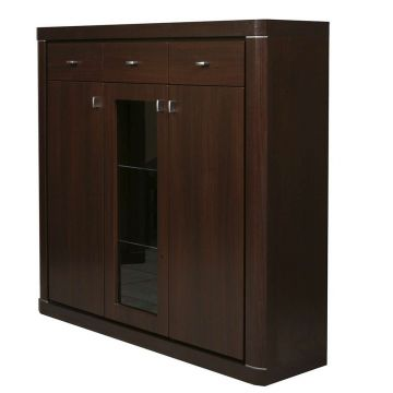 Camden 3 Door 3 Drawer Glazed Cabinet