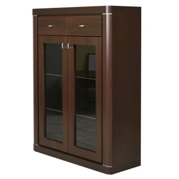 Camden 2 Door 2 Drawer Glazed Cabinet