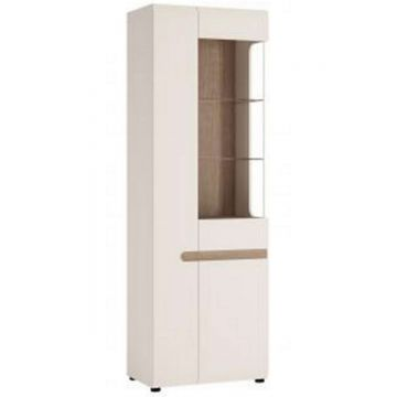 Chelsea Tall Glazed Narrow Display Unit (LH)