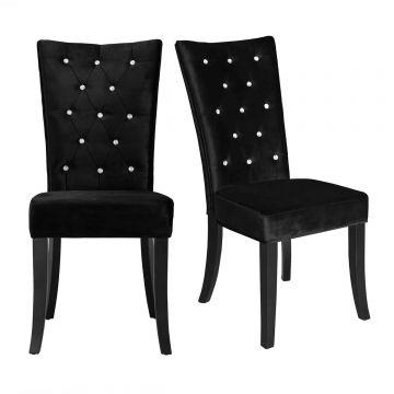 Radiance Velvet Diamante Dining Chair (Pair)
