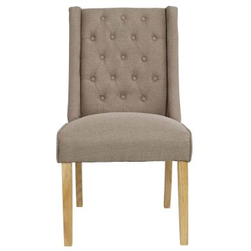 Verona Fabric Wing Dining Chair (Pair)