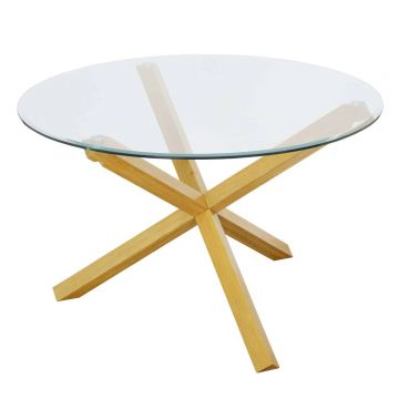 Oporto Glass 120cm Round Dining Table