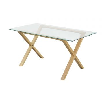 Cadiz Glass Top Dining Table
