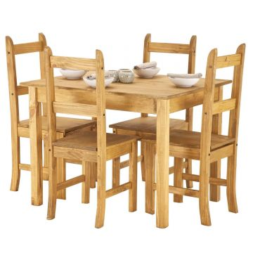 Ecuador Dining Table with 4 Chairs