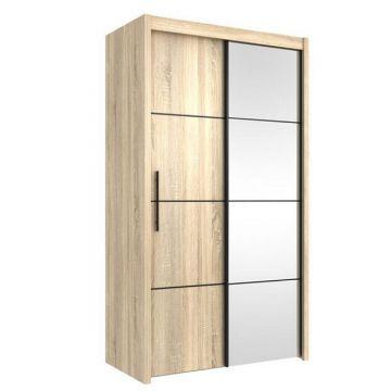 carlo 121cm wenge sliding wardrobe
