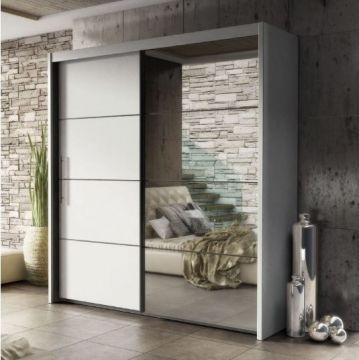 carlo, sliding wardrobe, oak, 200cm