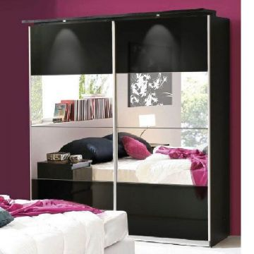 Louise 2 Door Mirrored Sliding Wardrobe