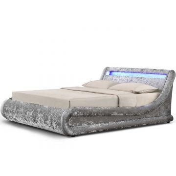 Madrid LED Ottoman Velvet Bed