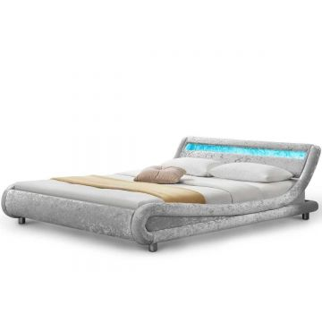 Madrid LED Crushed Velvet Bed