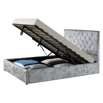 Chatsworth Velvet Ottoman Bed