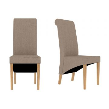 Amelia Fabric Scroll Dining Chair (Pair)
