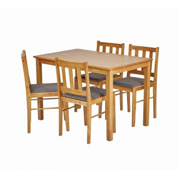 Trinity Wooden Dining Set with 4 Chairs