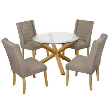 Oporto Dining Table with 4 Verona Dining Chairs
