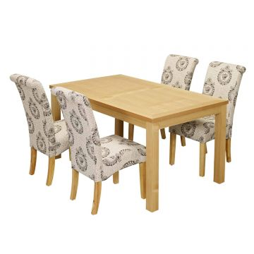 Oakridge Dining Table with 4 Kensington Dining Chairs