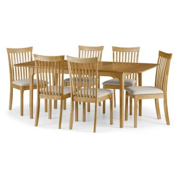 Ibsen Wooden Dining Set With 6 Chairs