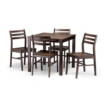 Monterey Wooden Dining Set With 4 Chairs
